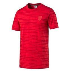 Koszulka Puma Ferrari Allover Tee rosso corsa 2016