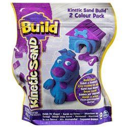 Kinetic Sand Build - piasek konstrukcyjny 2 kolory purpura-niebieski 454g