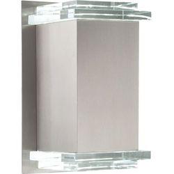 Zewnętrzna LAMPA ścienna RAMON 32403 Globo OPRAWA elewacyjna LED IP44 outdoor prostokątna srebrny