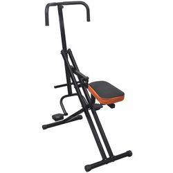 vidaXL Sprzęt do ćwiczeń mięśni brzucha czarny/pomarańczowy Darmowa wysyłka i zwroty