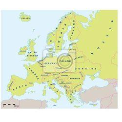 Obraz Mapa polityczna w Europie w 2015 roku w wytwórni i skali mapy. Nowe granice Ukrainy i Rosji na Krymie. Wszystkie dane