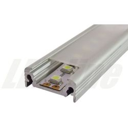 PROFIL aluminiowy nawierzchniowy 1 metr + szybka szroniona do TAŚMY LED
