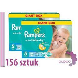 PAMPERS pieluszki Active Baby 5 Junior 156 sztuk