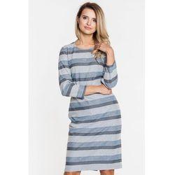 5249997255 suknie sukienki asos plus size prosta sukienka w paski (od Wizytowa ...