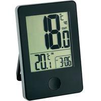 Termometr TFA 30-3051-01, z zegarkiem, czarna
