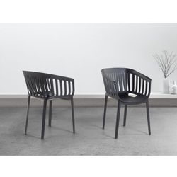 Krzeslo czarne - do jadalni - kuchenne - ogrodowe - DALLAS