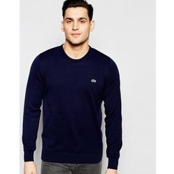 Lacoste Jumper with Croc Logo in Navy - Navy