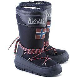 NAPAPIJRI Bella - Granatowe Nylonowe Śniegowce Damskie - 11797703
