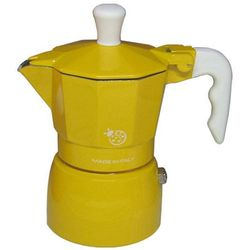 Kawiarka Top Moka Coccinella żółta - 1 filiżanka