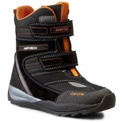 Śniegowce GEOX - J Orizont B. Abx A J540BA 01122 C0038 Black/Orange