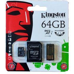 KINGSTON Karta Pamięci microSDXC 64GB z adapterem SD i czytnikiem USB (MBLY10G2/64GB)