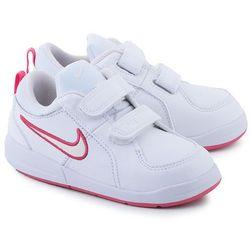 NIKE Pico 4 - Białe Skórzane Sportowe Dziecięce - 454477 103