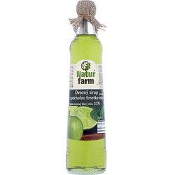 NATUR FARM 700ml Syrop owocowy z sokiem limonkowym i miętą aż 33% soku