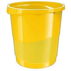 Kosz na śmieci Esselte Europost Vivida 14L żółty 623946