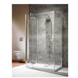 Kabina Radaway Almatea KDJ+S 100 drzwi lewe x 80 x 80 szkło przejrzyste, chrom 31552-01-01L1+31552-01-01L2
