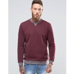 Lee Crew Sweatshirt Maroon 2 Tone - Red