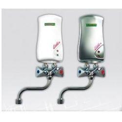 ELEKTROMET LIDER Umywalkowy przepływowy ogrzewacz wody z baterią L-210mm 3,5kW, bezciśnieniowy, biały 251-21-351
