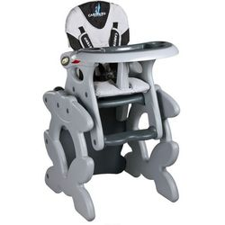 Krzesło do karmienia CARETERO ze stoliczkiem Primus szary