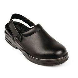 Czarne buty ochronne unisex typu Clog | rozmiary 36-47