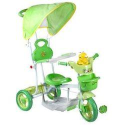 Rowerek trójkołowy zielony