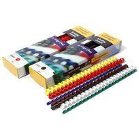 Grzbiety do bindowania plastikowe, białe, 28,5 mm, 50 sztuk, oprawa do 270 kartek