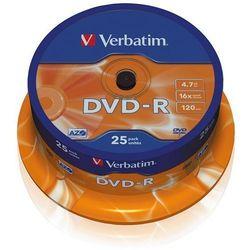 VERBATIM PŁYTY DVD-R VERBATIM 4,7 GB 16X CAKE 25 SZT.43522