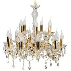 LAMPA wisząca MARIA TERESA 30-95810 Candellux świecznikowa OPRAWA klasyczny ŻYRANDOL złoty