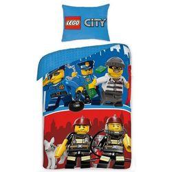 Dziecięca pościel bawełniana Lego City, 140 x 200 cm, 70 x 90 cm