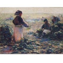 obraz Kopanie buraków - Leon Wyczółkowski