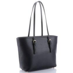 fc01c2825d4fd Klasyczne Torebki Skórzane Genuine Leather długie rączki Czarna (kolory).  panitorbalska.pl