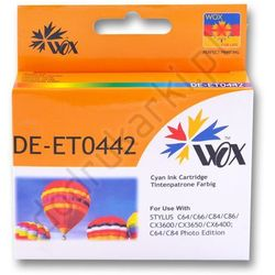 Epson T0442 zamiennik tusz cyan do Stylus Color C64 C66 C84 C86 CX3600 CX3650 CX6400 CX6600 - 19ml