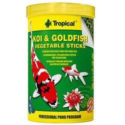 TROPICAL Koi & GoldFish Vegetable Sticks - pokarm roślinny w pałeczkach dla ryb stawowych puszka 1l/85g