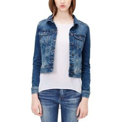 s.Oliver Denim Kurtka jeansowa blue denim heavy stone wash