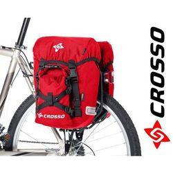 CO1007.30.02 Sakwy rowerowe CROSSO CLASSIC SMALL 30l Czerwone zestaw na tył / przód