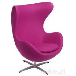 Fotel Jajo w kolorze amarantowym