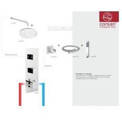 CORSAN Zestaw podtynkowy z termostatem, chrom CM-02T_20R
