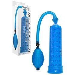 ToyJoy Manpower Power Massage Pump W. Sleeve Blue Pompka powiekszająca penisa niebieska