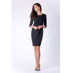 f96818dd9f suknie sukienki czarna wizytowa sukienka koronkowa ze stojka z ...
