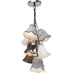 Kare design :: Lampa Saloon Ornament B&W 9-lite - biało-czarna 9 kloszy