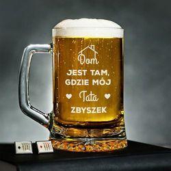 Tata w domu - Personalizowany Kufel - Kufel do piwa