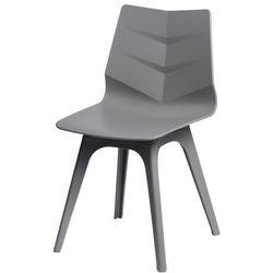 Krzesło Leaf z szarą podstawą - szary