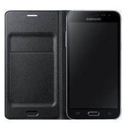 Pokrowiec na telefon Samsung dla Galaxy J3 z klapką (EF-WJ320PB) (EF-WJ320PBEGWW) Czarne