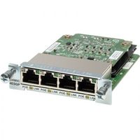 Four port 10/100/1000 Ethernet switch interface card w/PoE