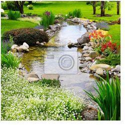 Fototapeta Wiosenne kwiaty w ogrodzie azjatyckich
