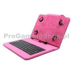 Akcja - Etui FlexGrip z klawiaturą do GoClever Tab M703G, Różowy