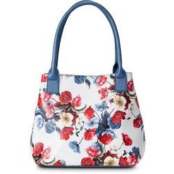 3a9ff7c596cc4 Torba do ręki w kwiaty bonprix jasnoniebiesko-ciemnoniebiesko-czerwony