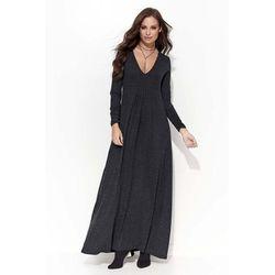 62f1fbea6c suknie sukienki dluga sukienka dekolt w serek rekawki wyszyte b ...