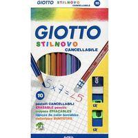 Giotto Kredki Stilnovo + gumka + temperówka