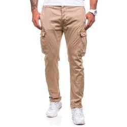 Camelowe spodnie bojówki męskie Denley 8380 - CAMELOWY Spodnie 59.99 (-14%)
