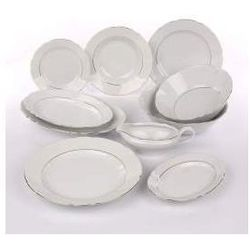 Zestaw obiadowy dla 12 osób porcelana Ćmielów Feston Złoty Pasek (3604)